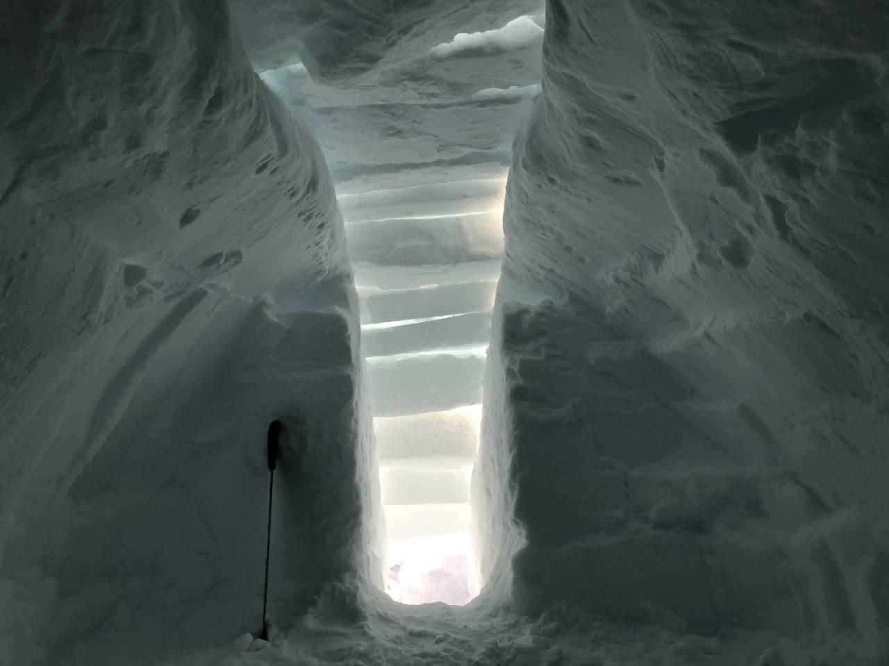 slik bygger du kantgrop how to snow ridge shelter