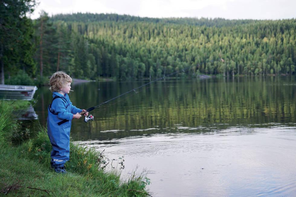 Fiske med barn lær barna fiske