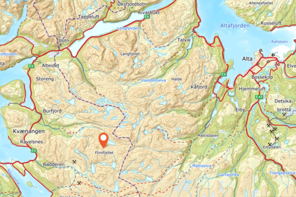 Kart kvænangen utemagasinet fjelltur