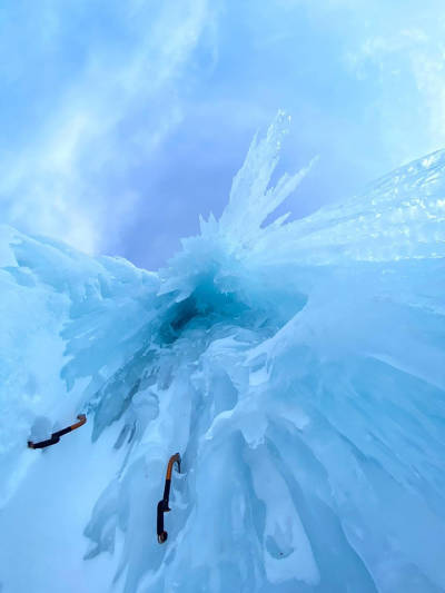 Arctic Ice Festival Jeff Mercier isklatring