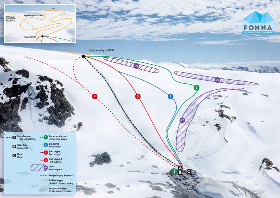 folgefonna fonna glacier ski snowboard ski resort park anlegg heis