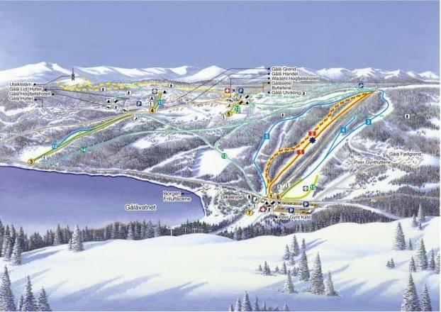 Gålå alpin skisenter gaalaa alin gala skisenter løypekart alpint snowboard fri flyt guide snowboard ski freeride