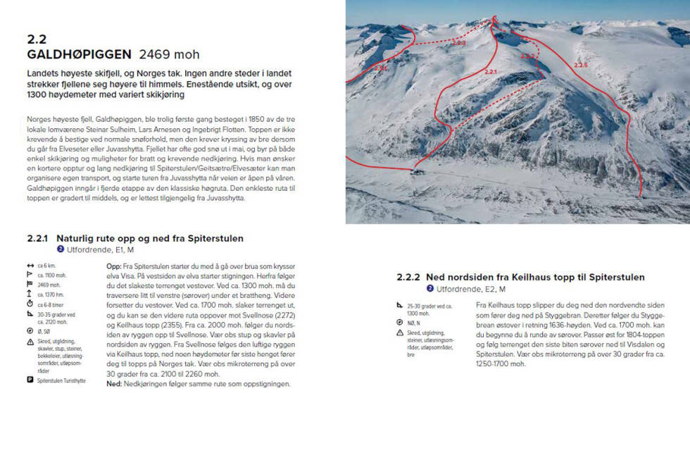 topptur bok jotunheimen ski alpint snowboard splitboard tu topper tinderangling sogn turtagrø lerivassbu gjendesheim valdresflya beitostølen lom otta rondane randonee bok guide tips fri flyt