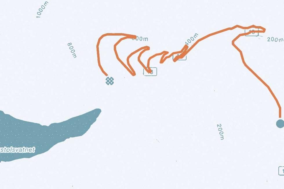 Gaularfjellet-kart
