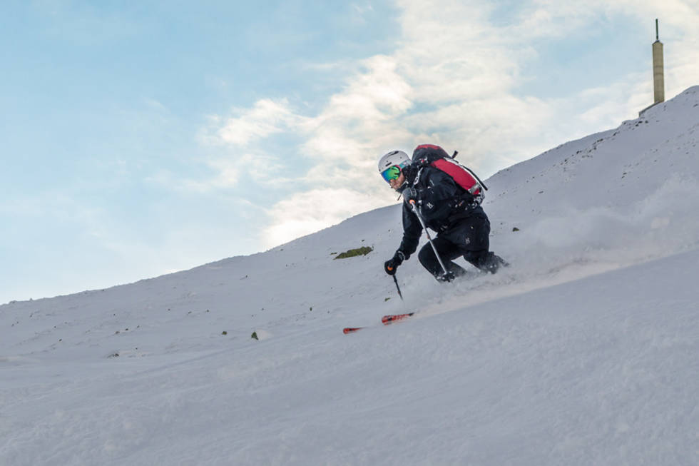 Gaustatoppen randonee topptur ski alpint Gausta fri flyt