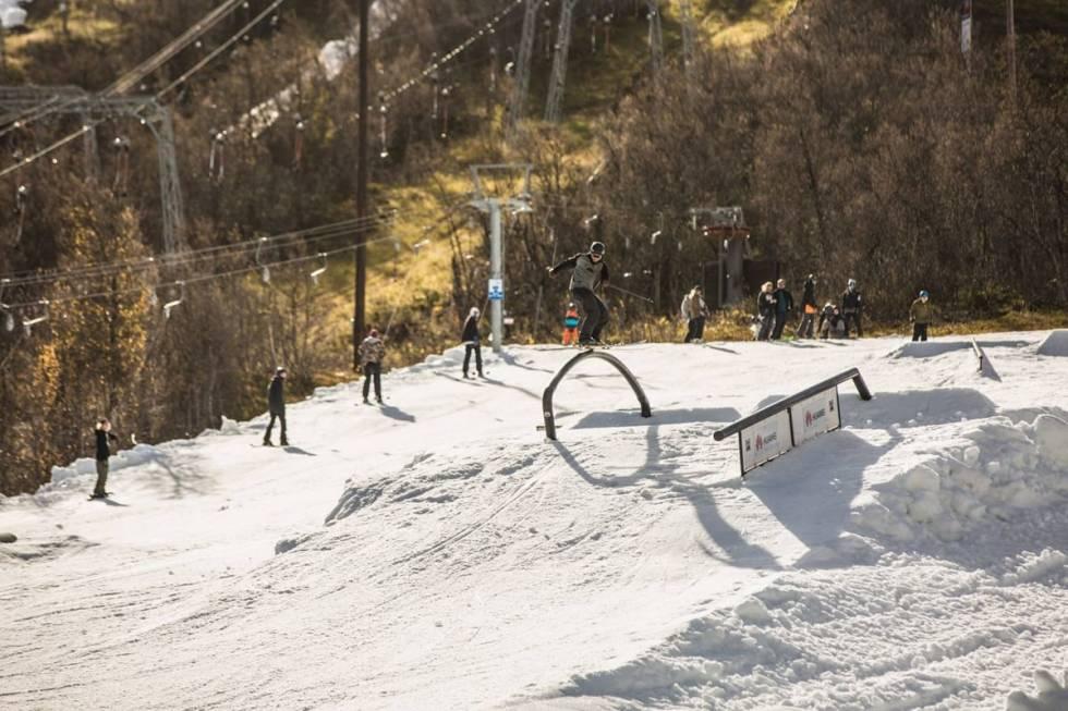 Geilo park september freeski ski freeride snowboard