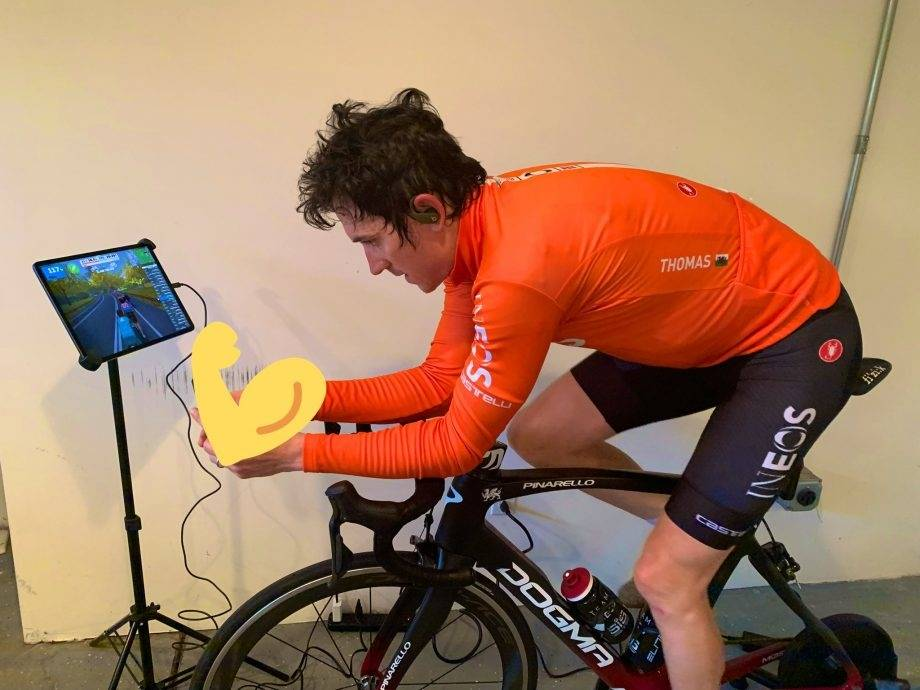 geraint thomas trener på zwift
