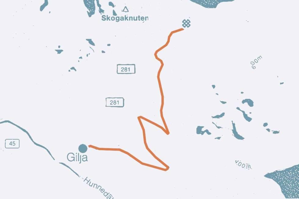 Gjesdal Giljastølen sykkel kart