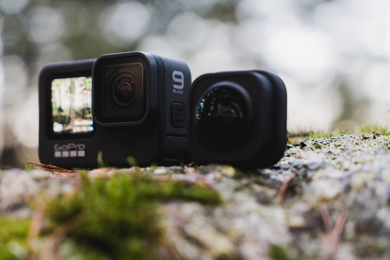 Max Lens Mod og standard objektivet til GoPro9