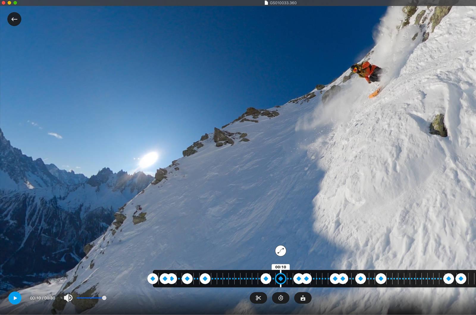 Slik ser programvaren GoPro Player fungerer ut.