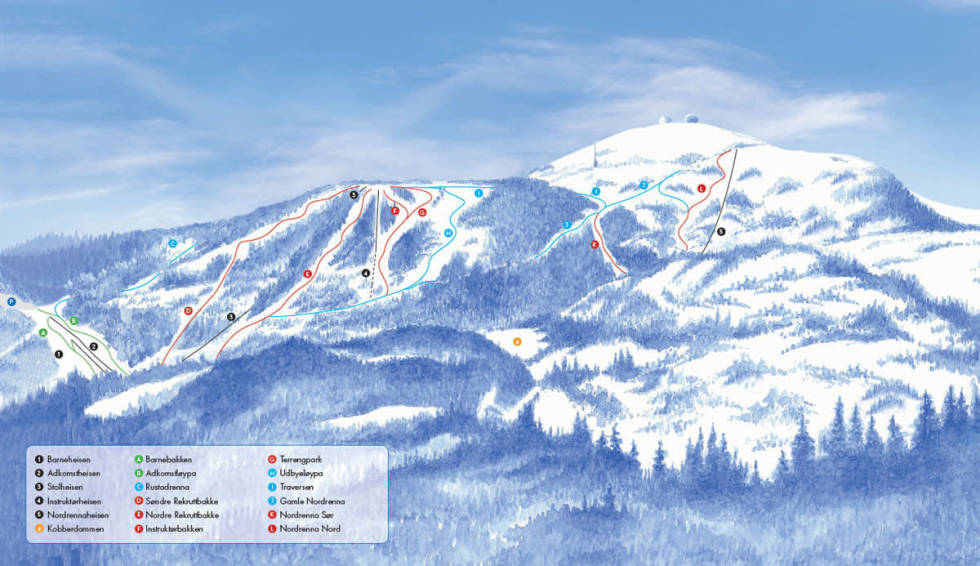 Gråkallen gråkallparken gråkallen vinterpark alpint snowboard fri flyt guide snowboard ski freeride