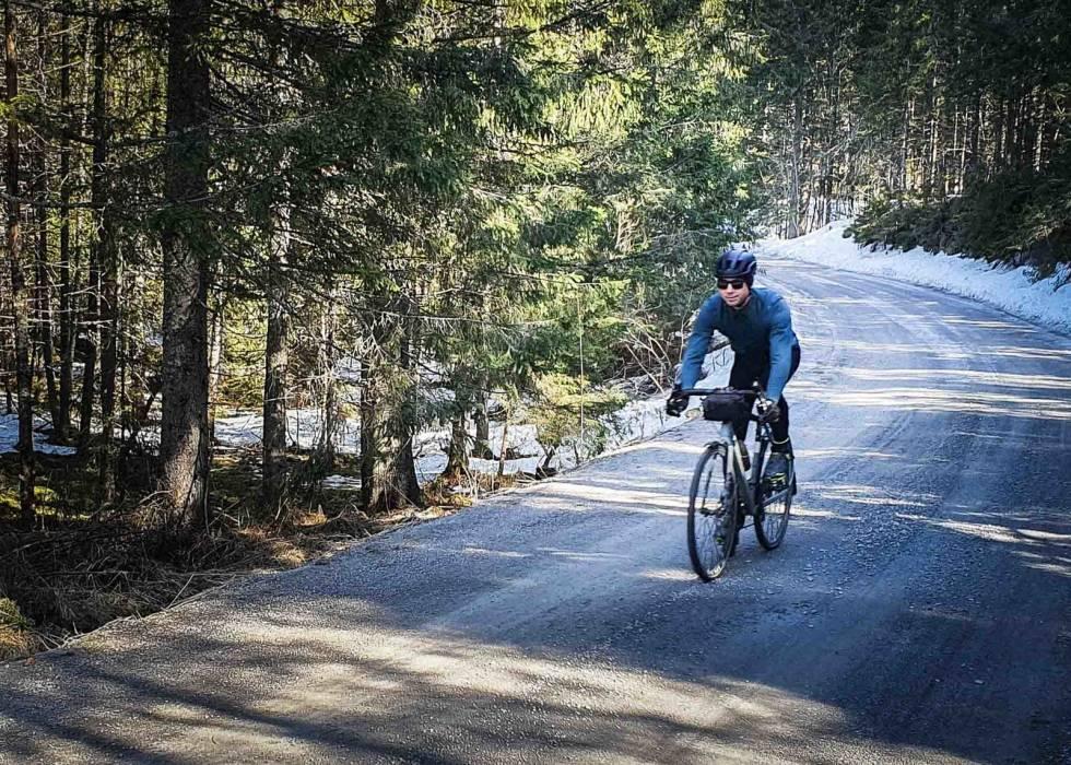 sykle i nordmarka