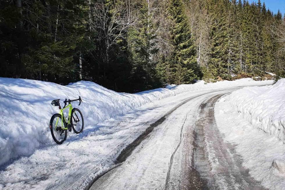 sykle gravel i nordmarka