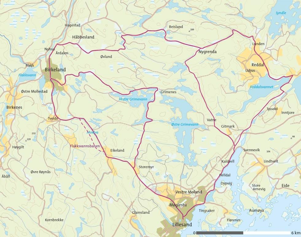 Grimevann-rundt-på-sykkel-Kart