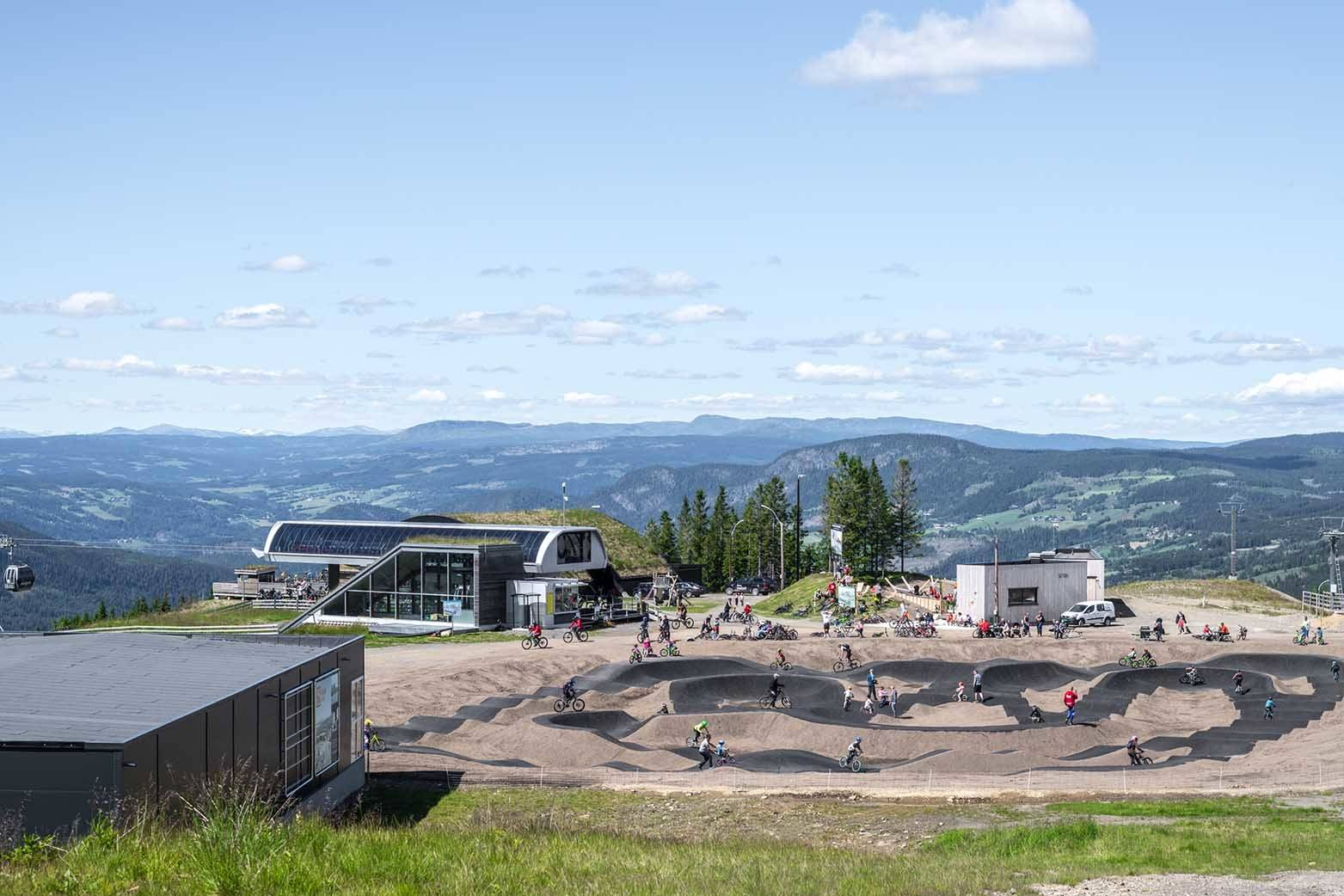 hafjell bike park pumptrack mosetertoppen