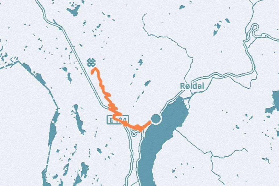 Røldal Håra opp landevei sykkel