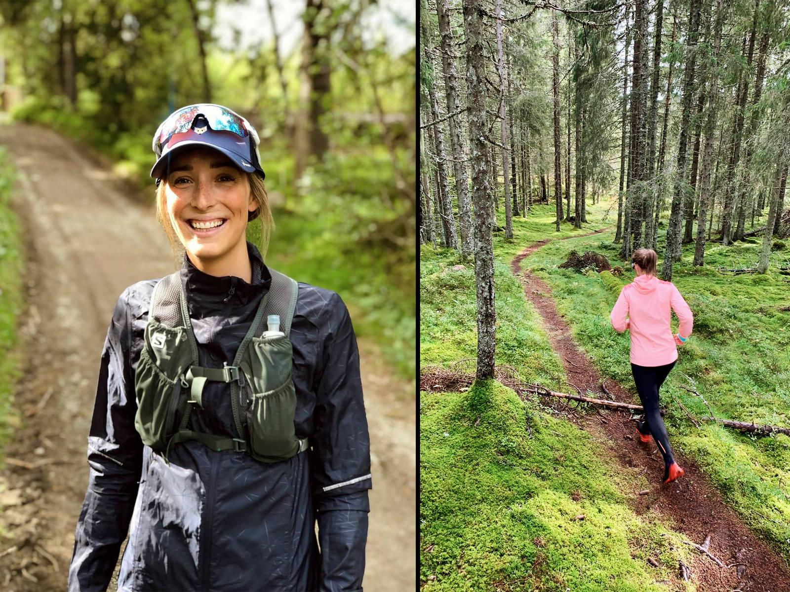 Heidi Pallin Aaring foretrekker løping som treningsform og klargjøring til vintersesongen.