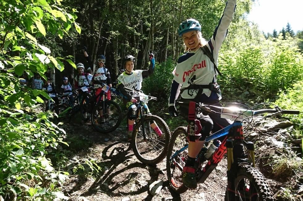 Hilde Sangesland Strædet holder sykkelkurs under Ekstremsportveko på Voss