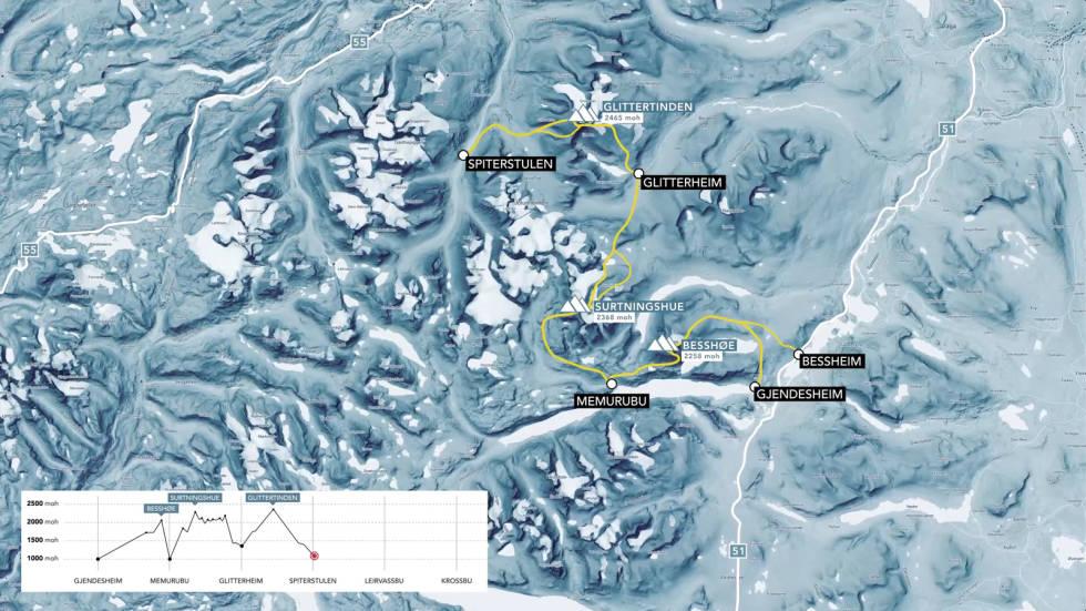 Etappe 3 på Høgruta i Jotunheimen mellom Glitterheim og Spiterstulen via Glittertind.