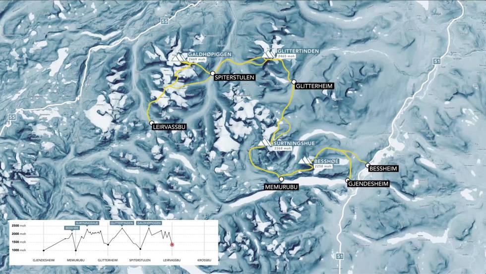 Fjerde etappe Høgruta Jotunheimen