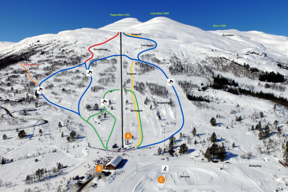 Hornindal skisenter løypekart