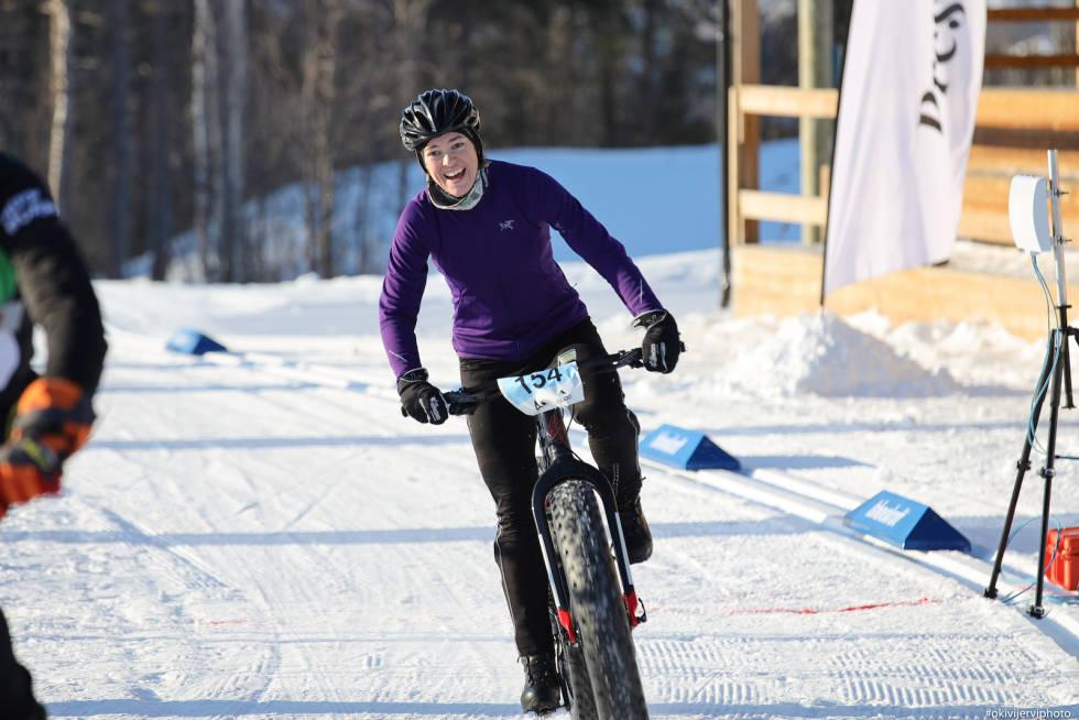 Ida Bøthun vant Arctic Alta Fatbike 2020