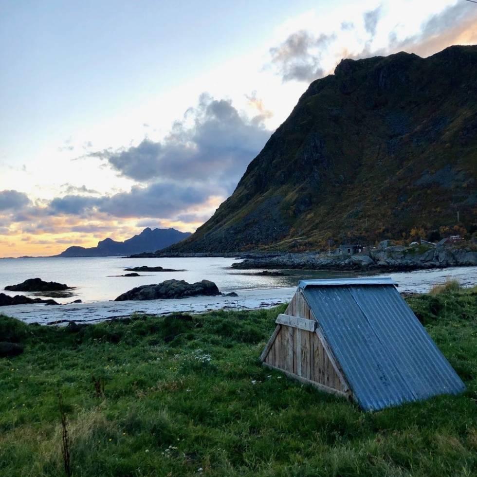 MAGI VED VALBERG: Dette lett å tro man drømmer når man er i Lofoten. Foto: Jonas Orset