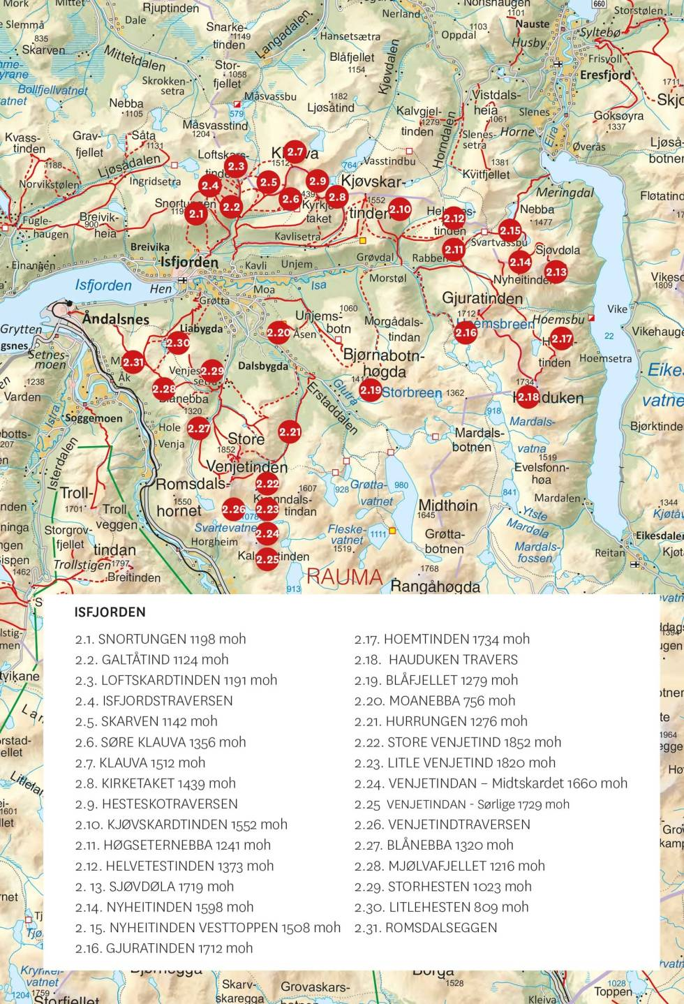 Isfjorden-Toppturer-i-Romsdalen-Oversiktskart