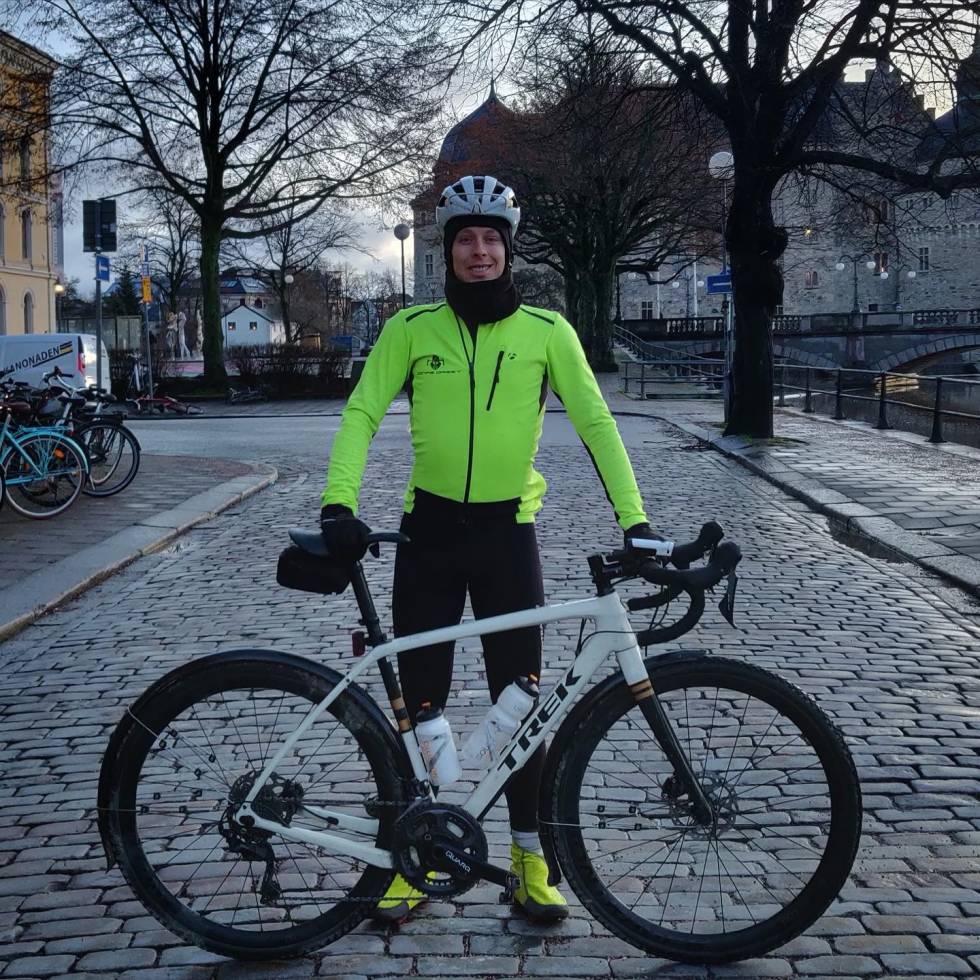 LEDER: Jonas Orset var lagets kaptein og hadde ansvaret for at alle skulle komme frem i god behold. Foto: Joakim Birkeland.
