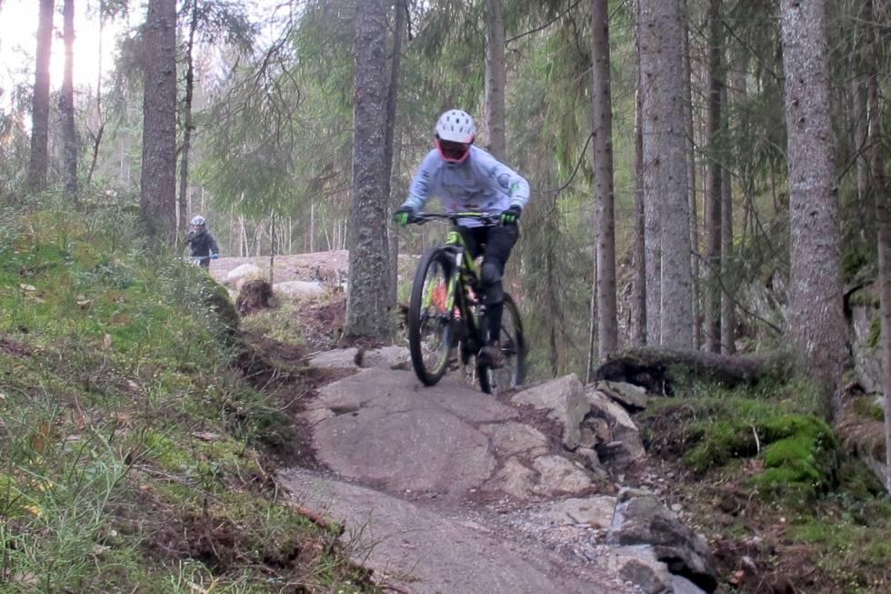 Løypene i Kjerringåsen er både tekniske og krevende. Foto: Petter Wilhelmsen