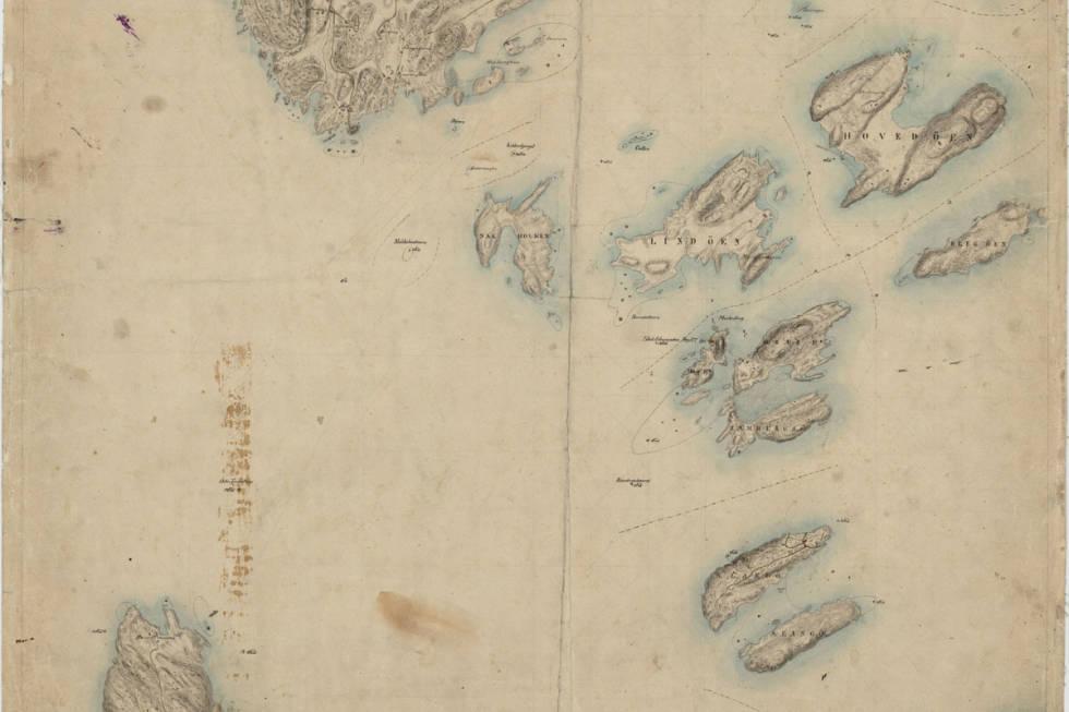 Kart over osloøyene fra 1838