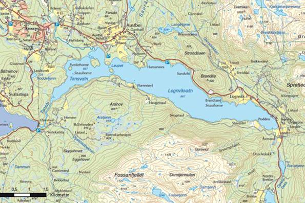 Tansvatn Lognvikvatn Rauland Padletur guide Telemark