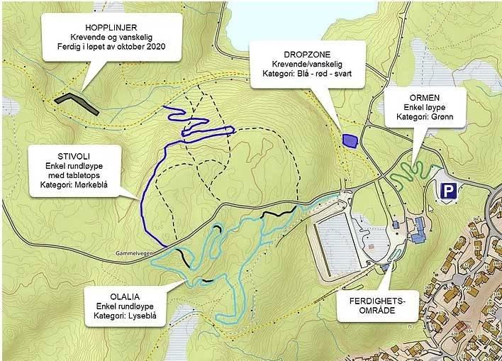 kart nilsbyen terrengsykkelpark