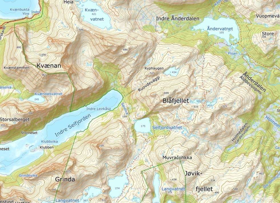 kart senja indre selfjord
