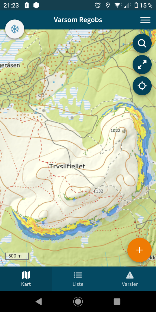 kart Trysilfjellet