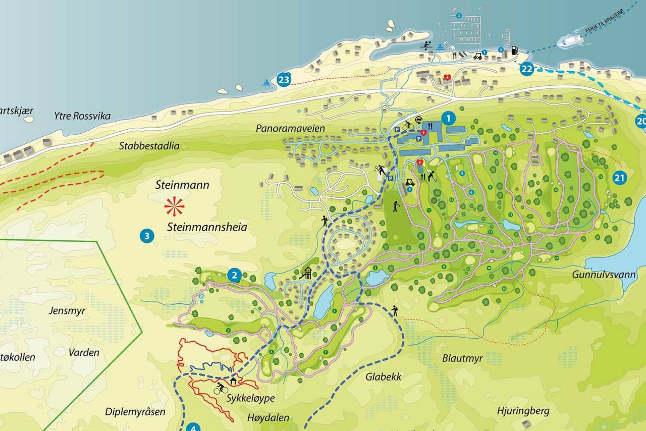 kart stisykling kragerø