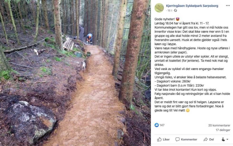 kjerringåsen sykkelpark åpen
