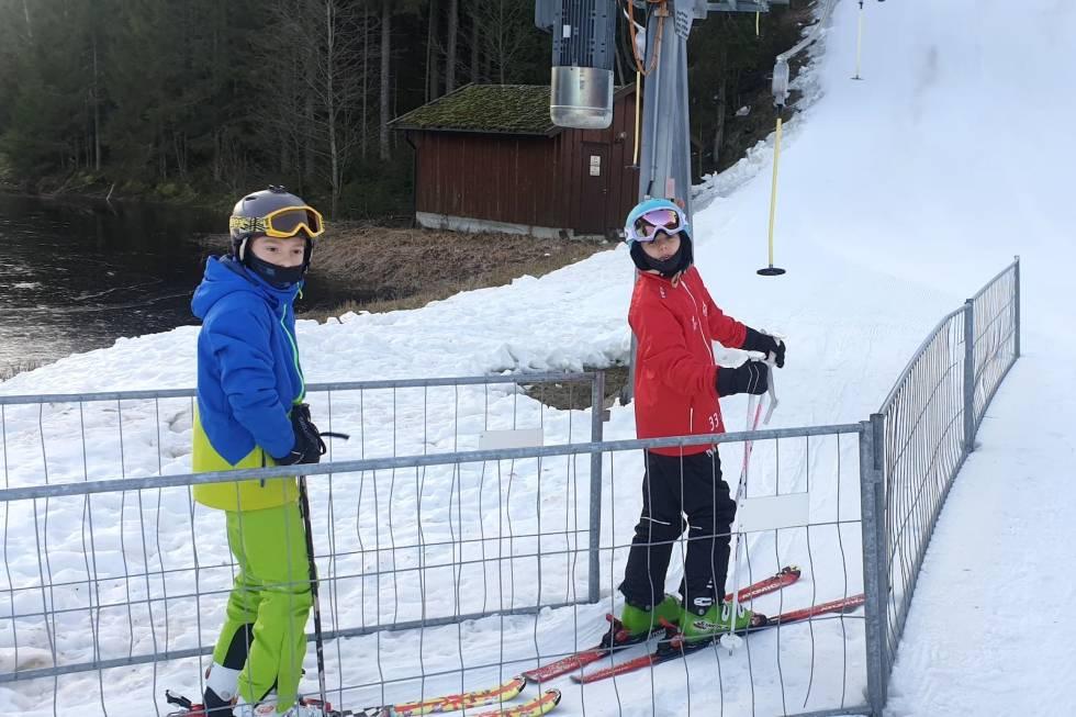 Kjerringåsen ski og sykkel i januar