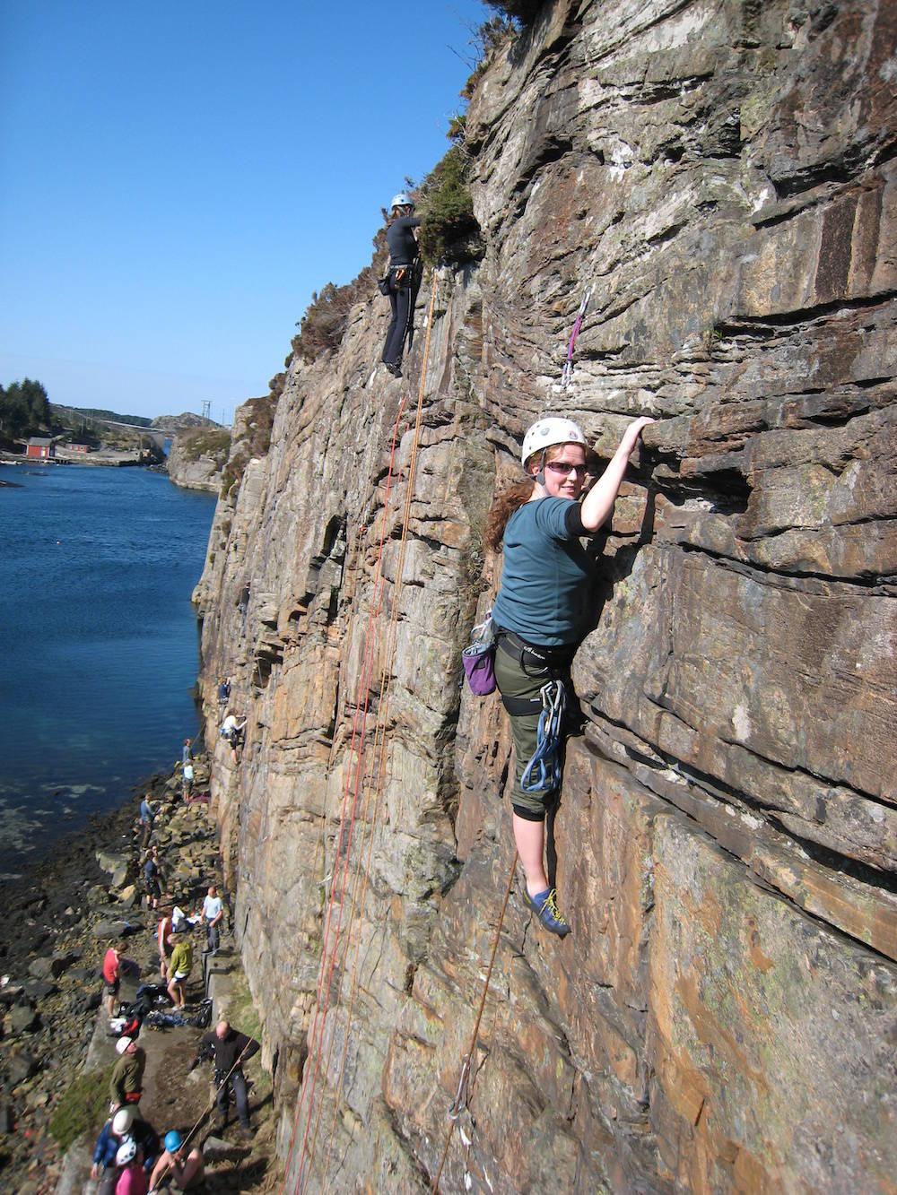 Klatring rundt Bergen klatrekurs Randi Dahle