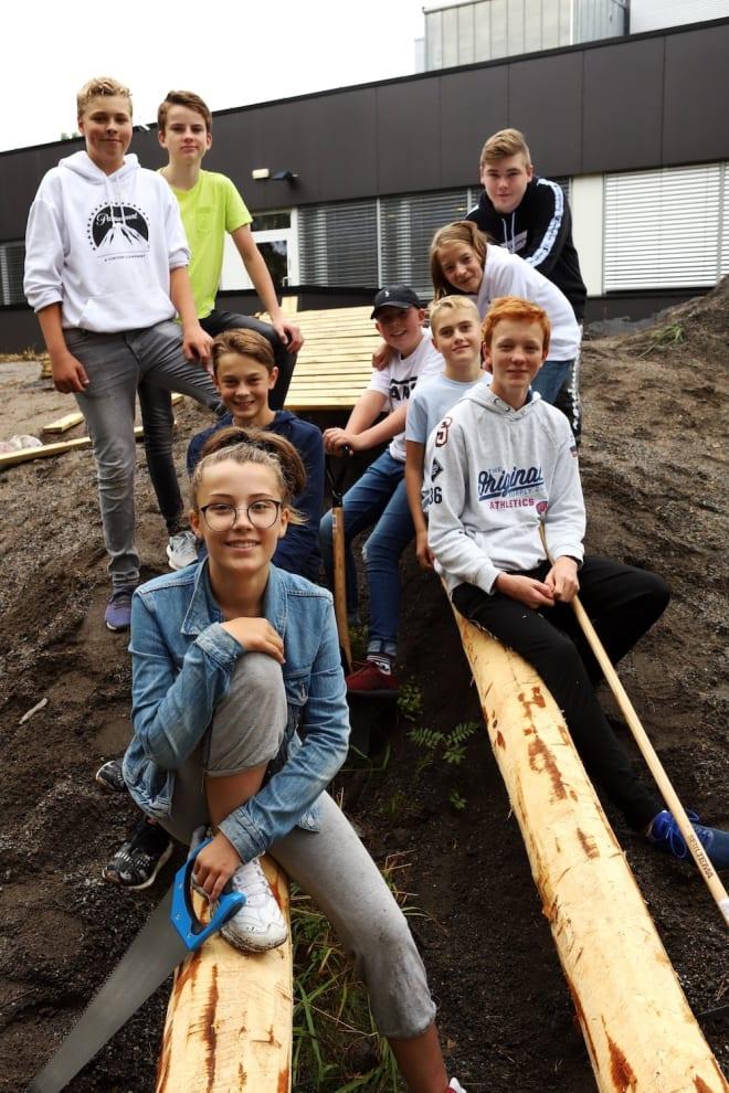Denne gjengen står bak utviklingen i Kolibriløypa. Foto: Cato Symrebu