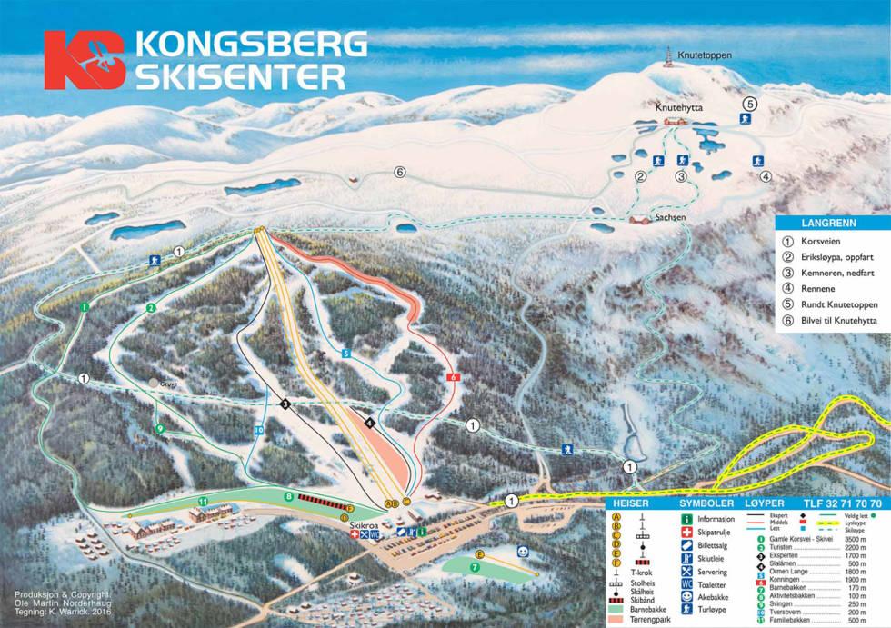 Fri flyt anleggsguide kongsberg skisenter alpint