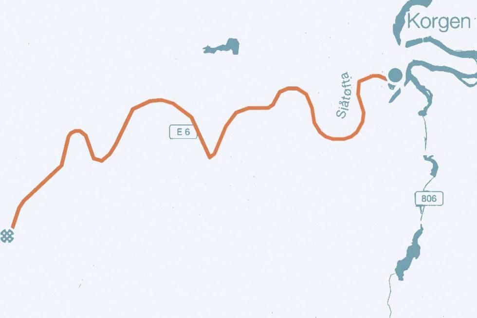 Korgfjellet-kart