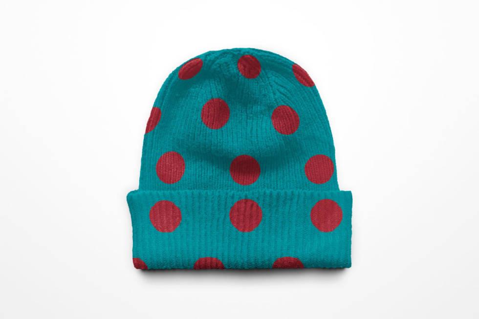 Korona lue utemagasinet knitted cap polka dot