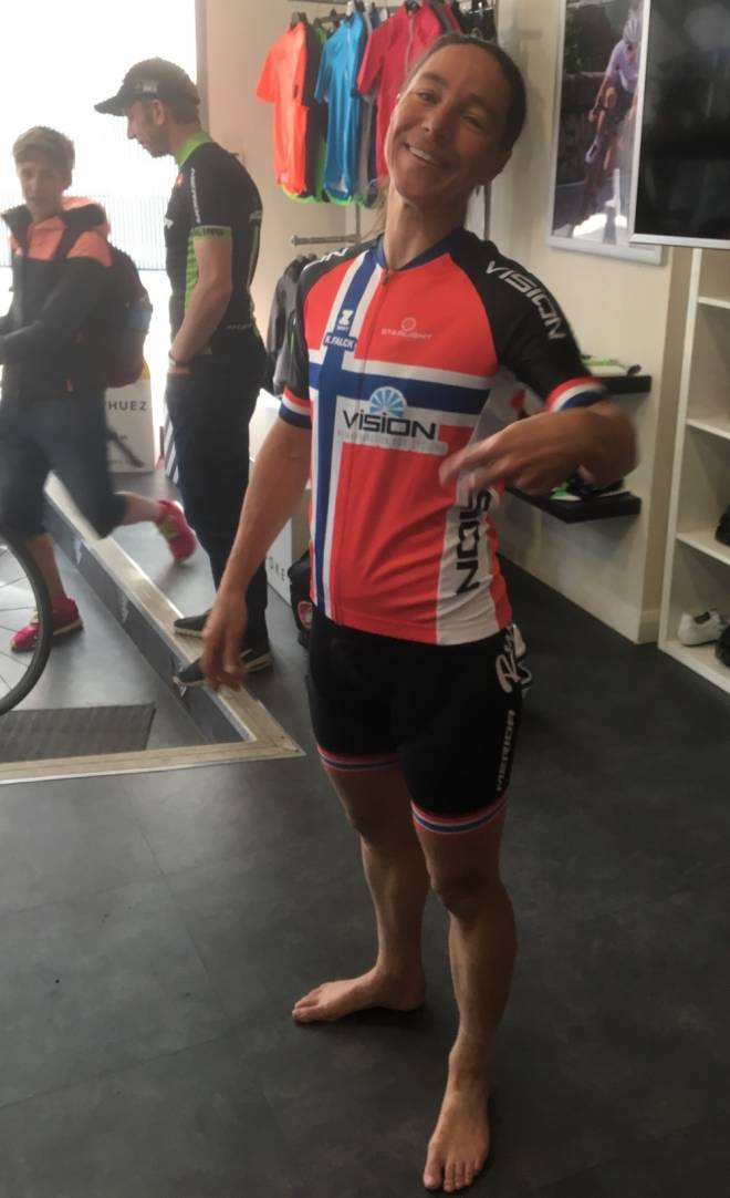 Kristin Falck Tour de Zwift