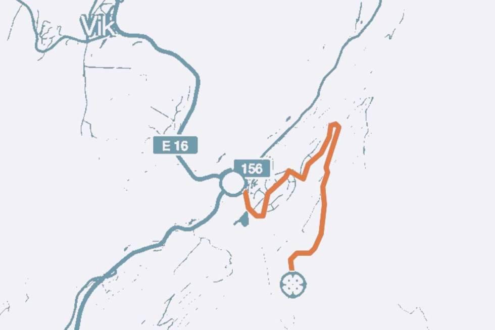 Krokkleiva-kart-sykkel-land