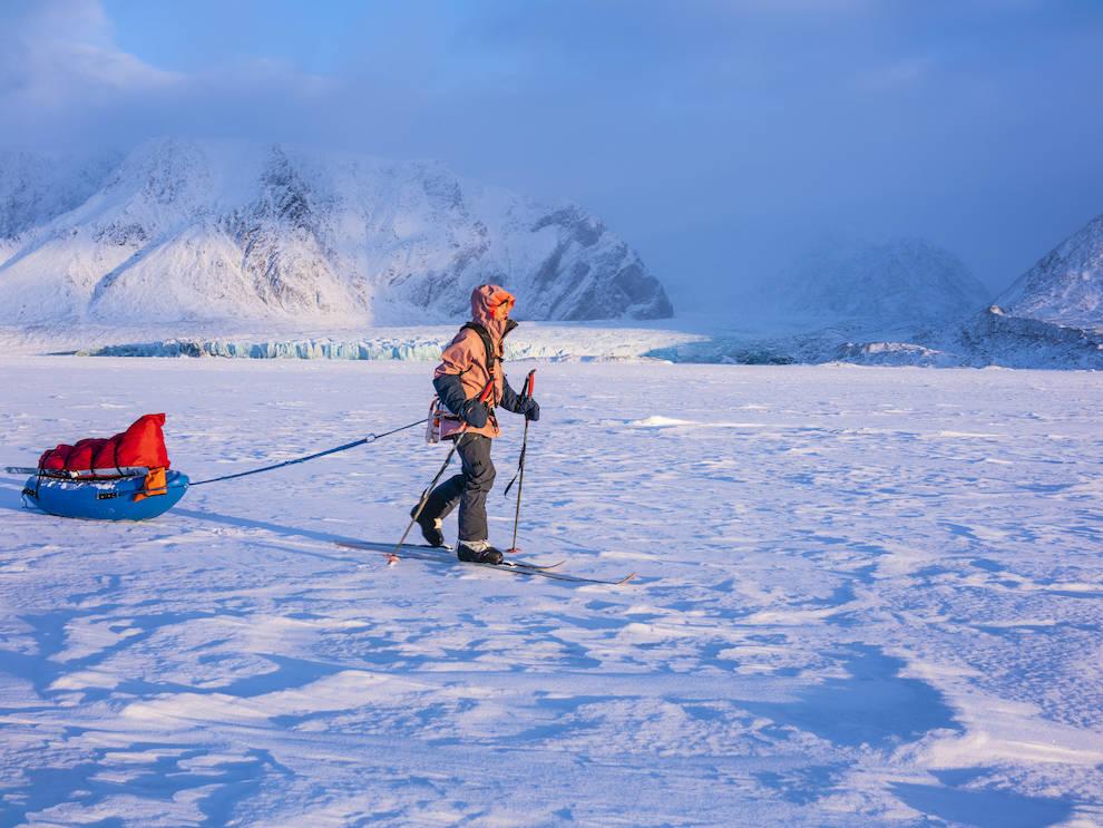 kryssing av Spitsbergen svalbardt vincent colliard Caroline cote