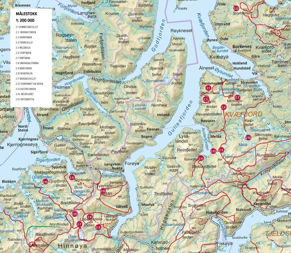 Kvæfjord-Sortland-Oversiktskart