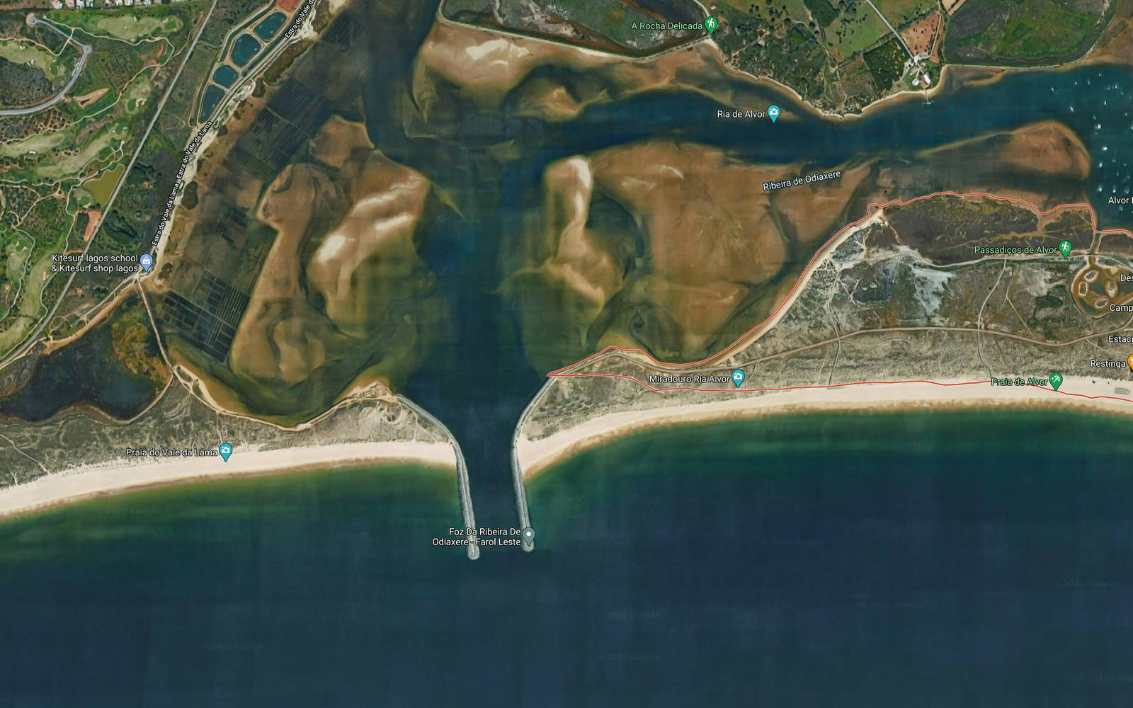 Lagoa de Alvor Portugal flatwater paradise kite