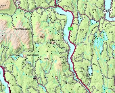 Langrenn-Vikerfjell-kart