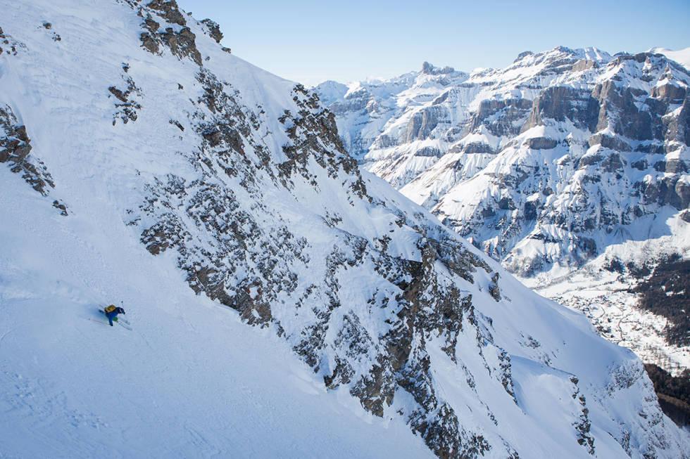 Leukerbad, frikjøring, Kilian Roten, ski, Sveits